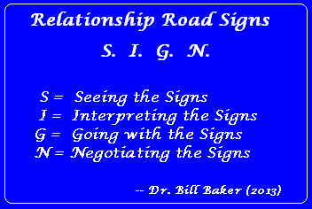 Relationship Road Signs